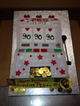 Jackpot Birthday Cake