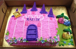Castle & Princess Birthday Cake