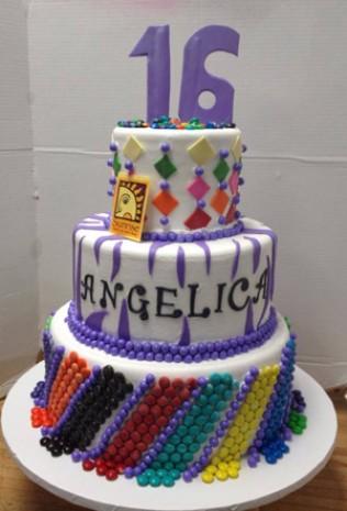 M&M's Sweet 16 Birthday Cake